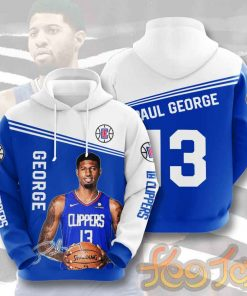 LA Clippers - Los Angeles Clippers - Paul George hoodie 3D